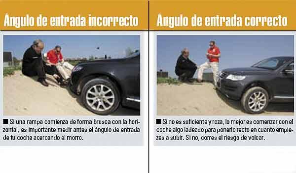 Bajar subir pendiente pronunciada SUV 4x4 consejos conducción