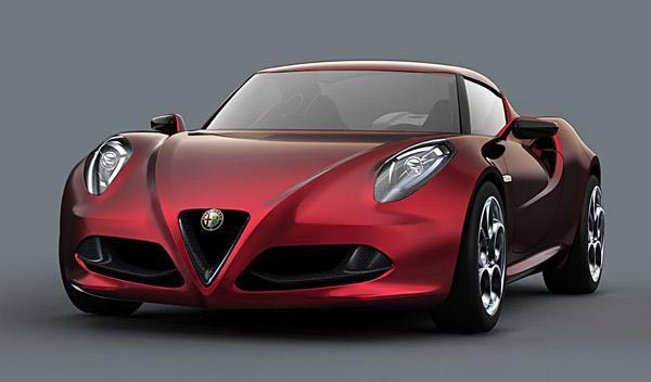 Faros con LED en el Alfa Romeo 4C Concept