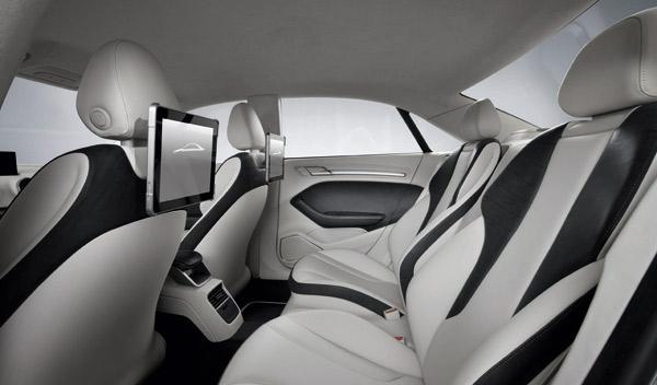 Audi A3 concept interior trasero