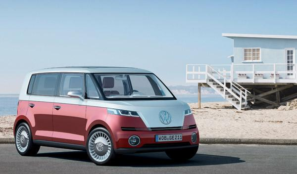 Volkswagen Bulli con luces de día con leds