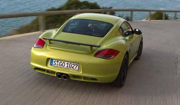 Porsche Cayman R carretera comodo verde