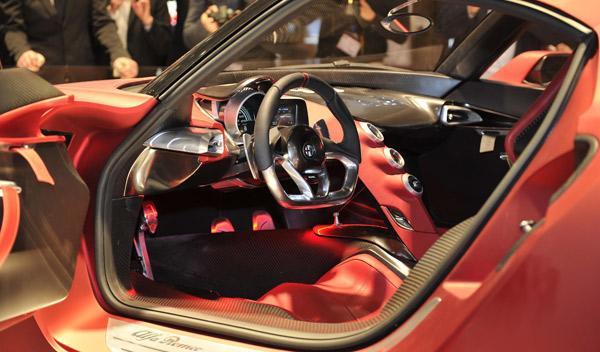 Alfa Romeo 4C Interior Salón de Ginebra 2011
