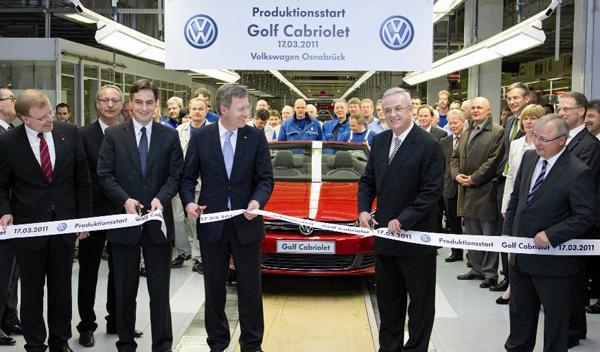 Volkswagen Golf Cabrio producción