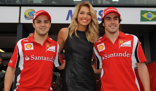Massa, Alonso y Ashley Hart
