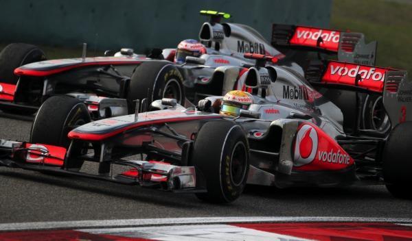 Lewis Hamilton y Jenson Button-McLaren