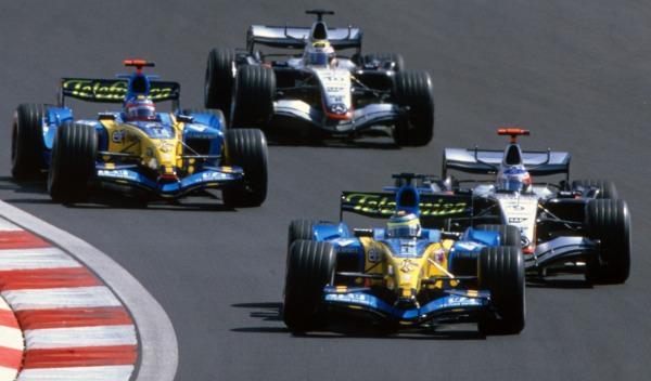Fisichella/Räikkönen/Alonso/Montoya-GP Turquía 2005