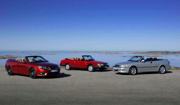 Las tres generaciones del Saab Cabrio