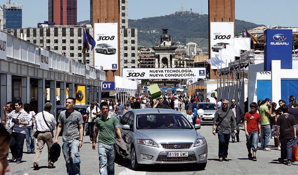 Pruebas Salón Automóvil Barcelona 2011