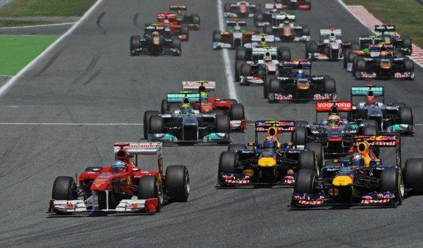 Salida Gran Premio de España