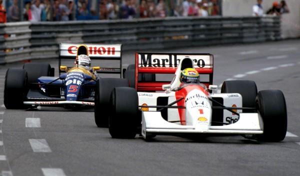 Senna/Mansell-GP Mónaco 1992