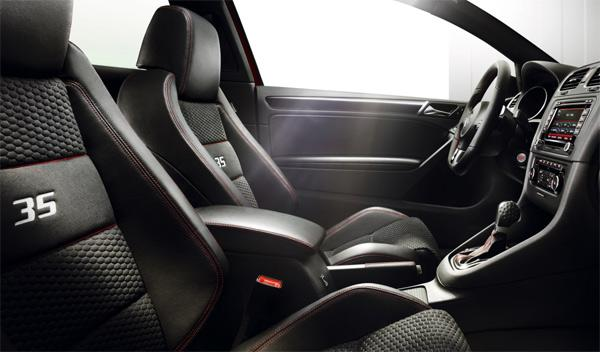 Volkswagen Golf GTI 35 Edition interior