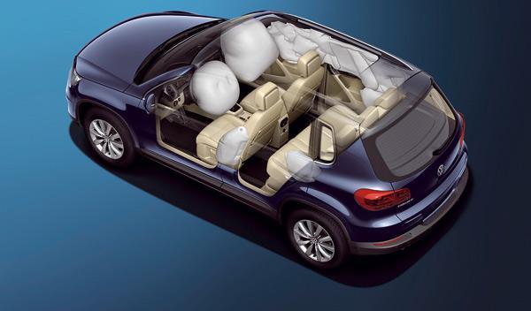 SUV Tiguan airbags Volkswagen nuevo