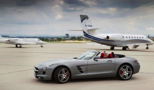Jay-Leno-Mercedes-SLS-Roadster
