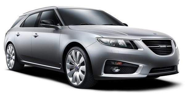 Saab 9-5 Wagon frontal y lateral