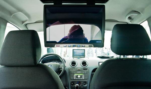 Geek car desde el interior (zona pasajeros)