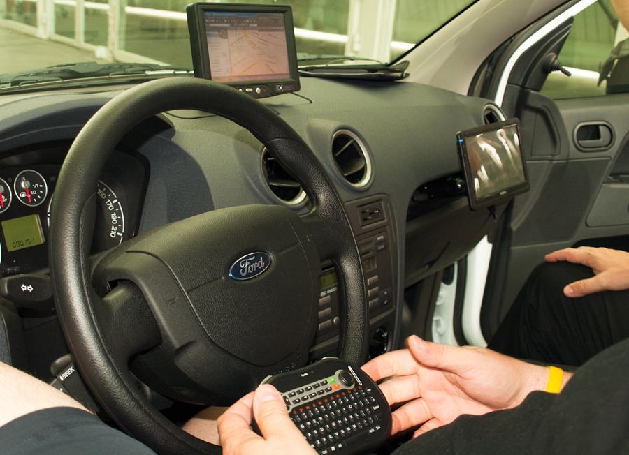 Geek car desde el interior (zona piloto)