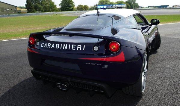 Lotus Evora S Carabinieri trasera