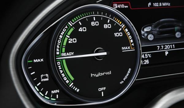 Reloj de flujo de energía del Audi A8 hybrid