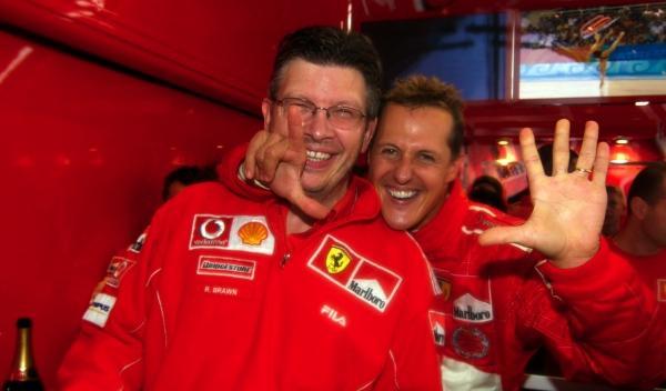 R. Brawn/M. Schumacher-GP Bélgica 2004