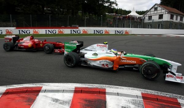 G. Fisichella/K. Räikkönen-GP Bélgica 2009