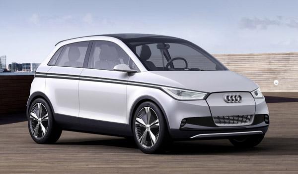 Audi A2 concept lateral-frontal. Salón de Frankfurt 2011