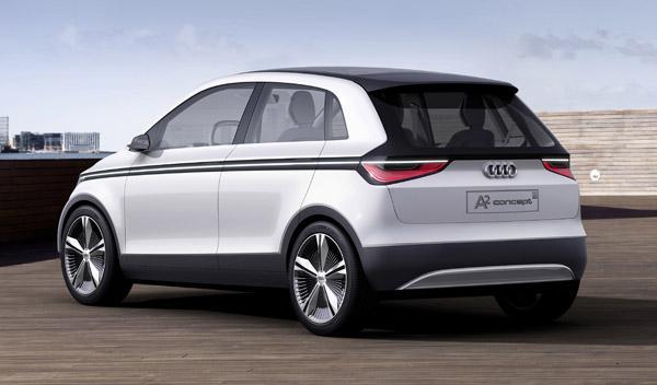 Audi A2 concept lateral-trasera. Salón de Frankfurt 2011
