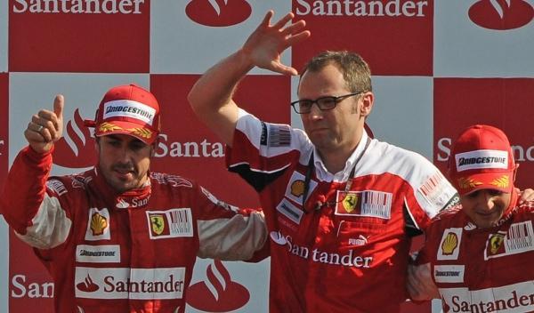F. Alonso-S. Domenicali-F. Massa-GP Italia 2010