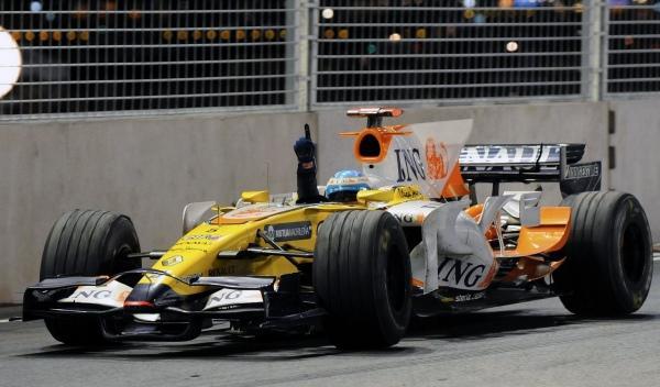 Fernando Alonso-Renault-GP Singapur 2008