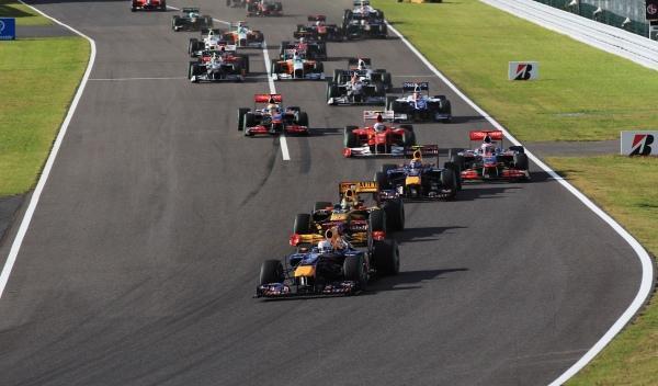 Salida GP de Japón 2010