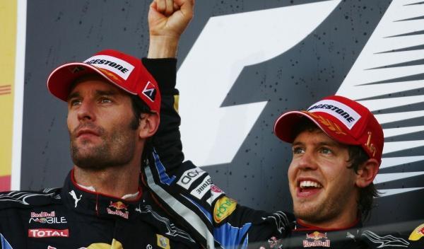 Mark Webber y Sebastian Vettel-Japón 2010