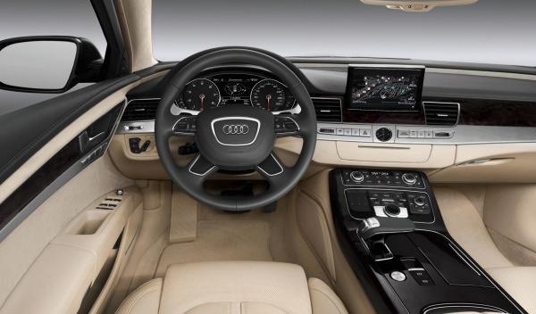Interior del Audi A8 L W12 Exclusive Concept