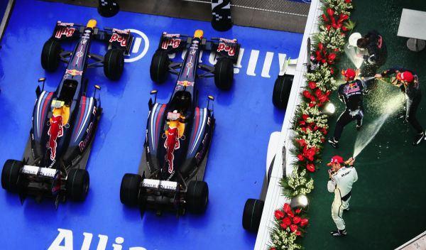 Podio GP China 2009