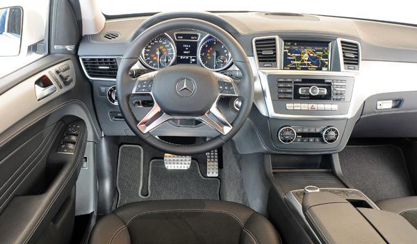 Interior del Mercedes ML