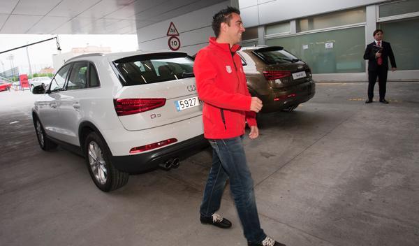 coches audi fc barcelona - Xavi