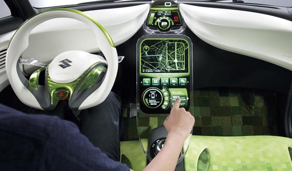Suzuki Swift EV Hybrid interior Salón de Tokio 2011