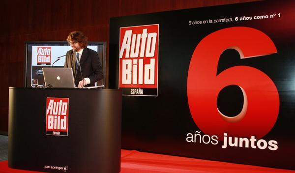 Gabriel Jiménez en el sexto aniversario de AUTO BILD