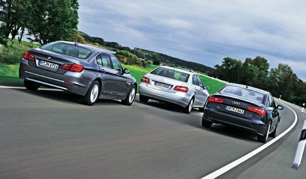 Audi-A6-BMW-52d0-Mercedes-ClaseE-trasera