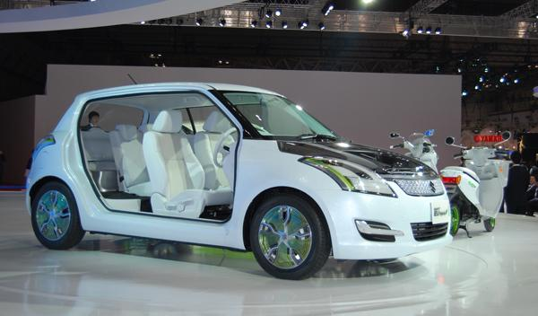 Suzuki Swift Hibrido lateral. Salón de Tokio 2011