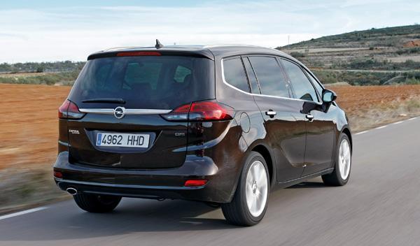 Trasera del Opel Zafira Tourer