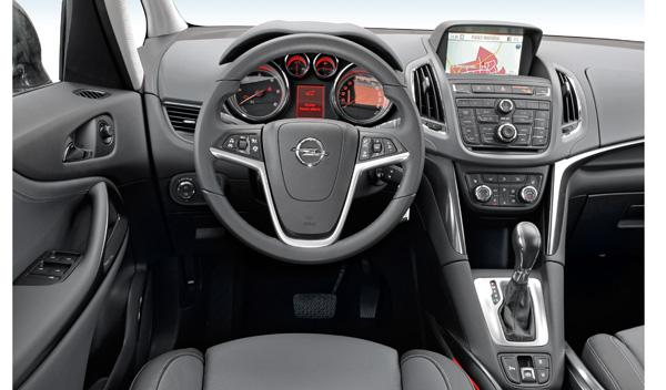 Interior del Opel Zafira Tourer