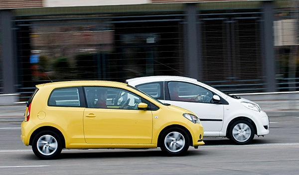 Lateral de Seat Mii y Citroën C1