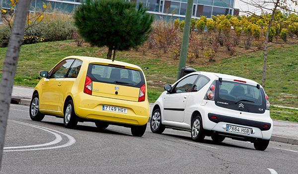 Trasera de Seat Mii y Citroën C1