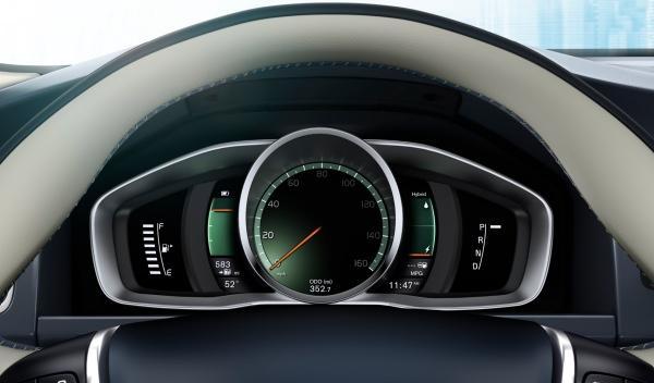 Cuadro de mandos del Volvo XC60 Plug-in Hybrid Concept