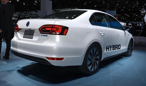 Volkswagen Jetta Hybrid trasera Salon detroit 2012