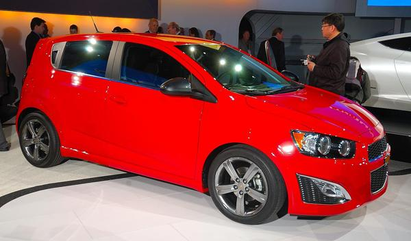 Chevrolet Sonic RS salon detroit 2012