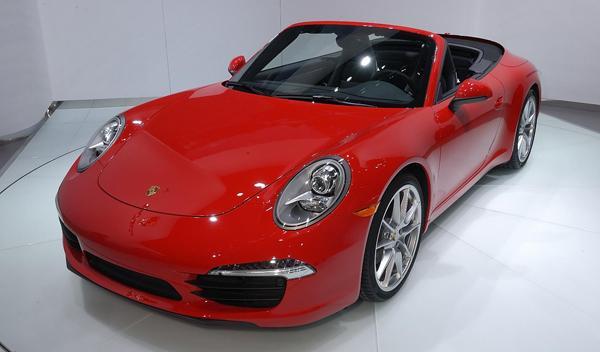 Porsche 911 cabrio salon detroit 2012