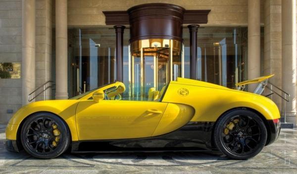 Lateral del Bugatti Veyron Grand Sport