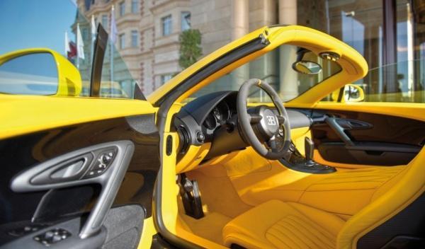 Interior del Bugatti Veyron Grand Sport