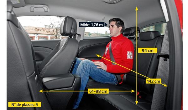 Opel Astra GTC 2.0 CDTI plazas traseras