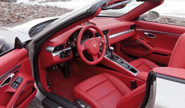 Interior del Porsche 911 Cabriolet